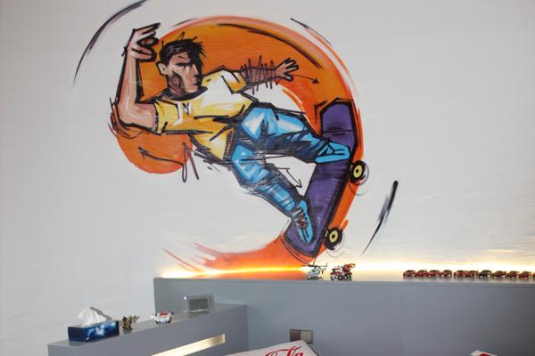 Wandgestaltung graffiti innenraumgestaltung for Graffiti jugendzimmer